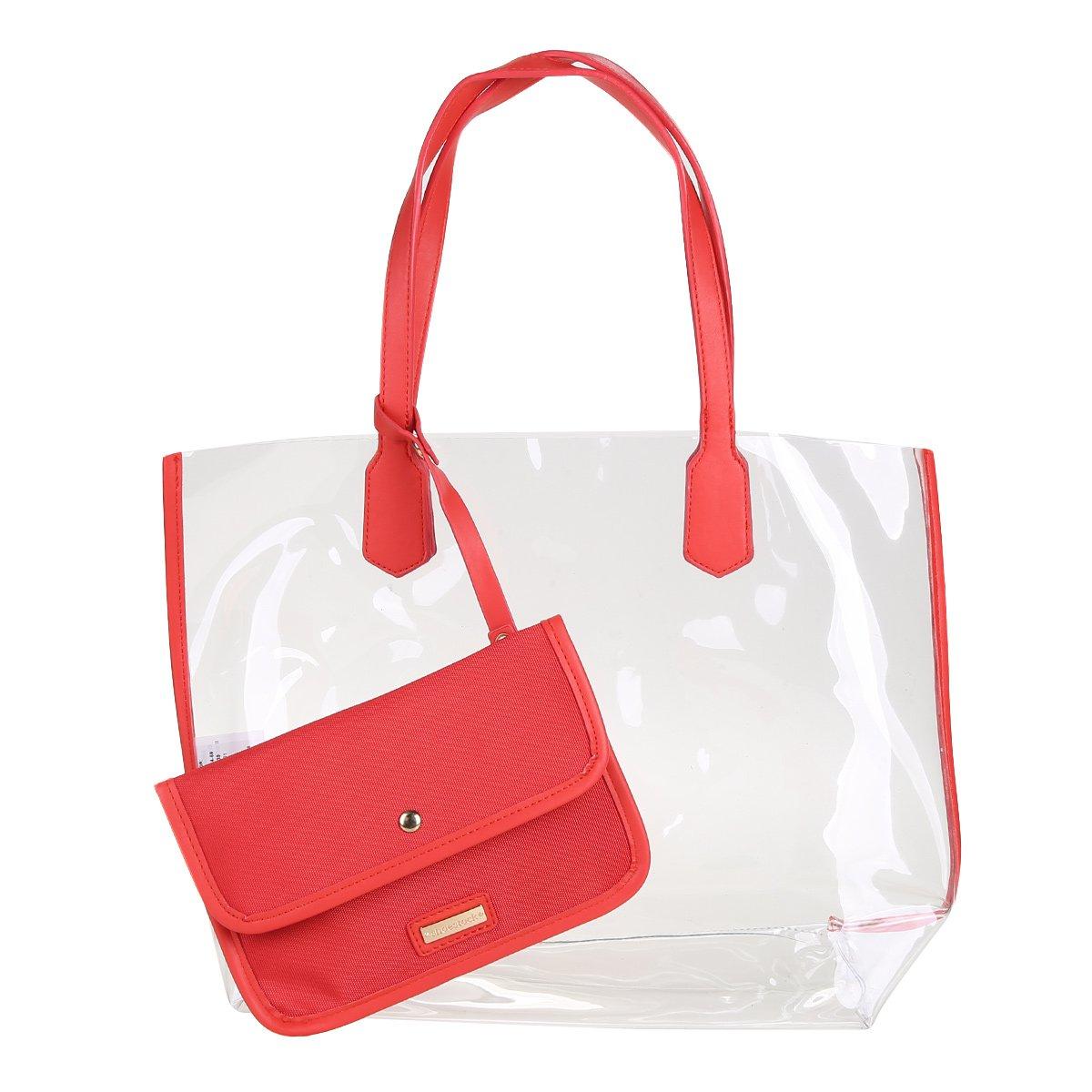 1e76f74d4c1fb Bolsa Shoestock Shopper Vinil Feminina - Vermelho - Compre Agora ...