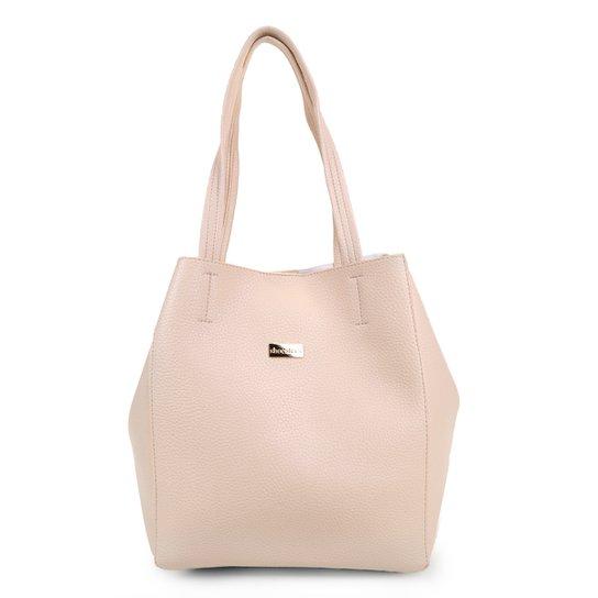 Bolsa Shoestock Tote Duble Feminina - Off White