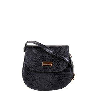 Bolsa Shoestock Transversal Lezard Mini Bag Feminina
