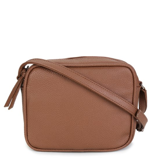 Bolsa Shoestock Transversal Retangular Básica Feminina - Caramelo