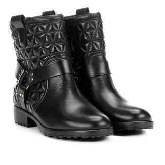 Bota Biker Shoestock Matelassê Feminina