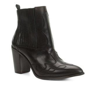Bota Cano Curto Shoestock Elástico Salto Bloco Feminina