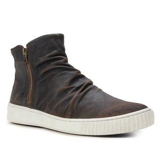 Bota Cano Médio Shoestock Couro Cabra Masculina