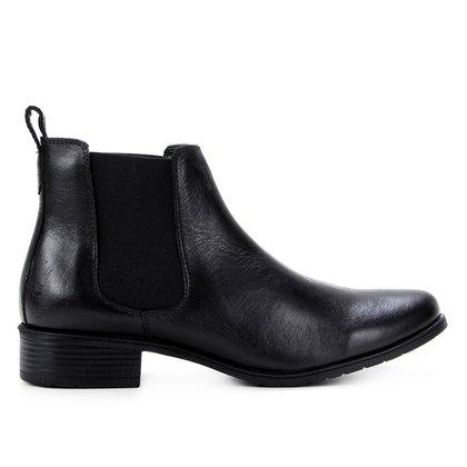 Bota Chelsea Shoestock Cano Curto Elástico Feminina