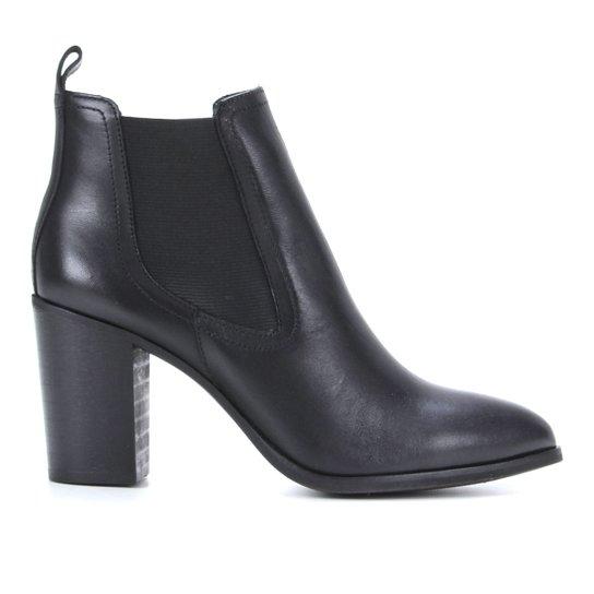Bota  Chelsea Shoestock Salto Alto Feminina - Preto