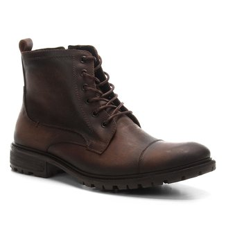 Bota Coturno Shoestock Couro Tratorada Masculina