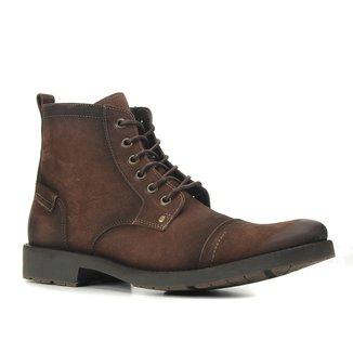 Bota Coturto Couro Shoestock Básica Masculina