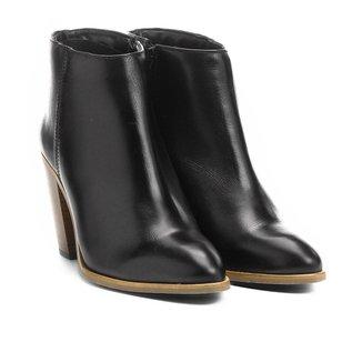 Bota Couro Cano Curto Shoestock Assimétrica Feminino
