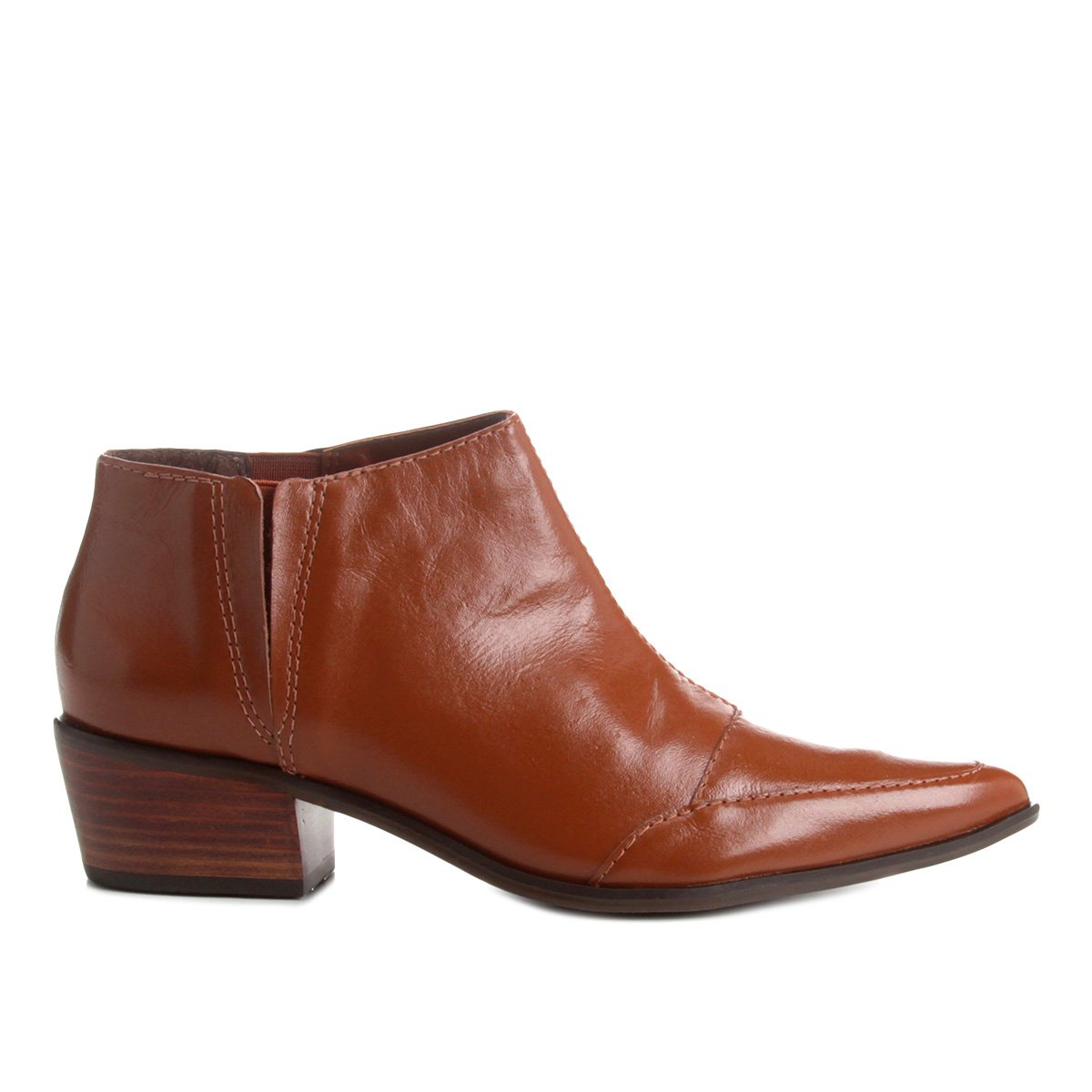 1b83ab0c33 Bico Couro Curto Agora Cano Feminina Fino Compre Shoestock Bota wTPIxAqw