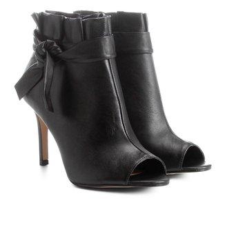 Bota Couro Cano Curto Shoestock Nó Feminina