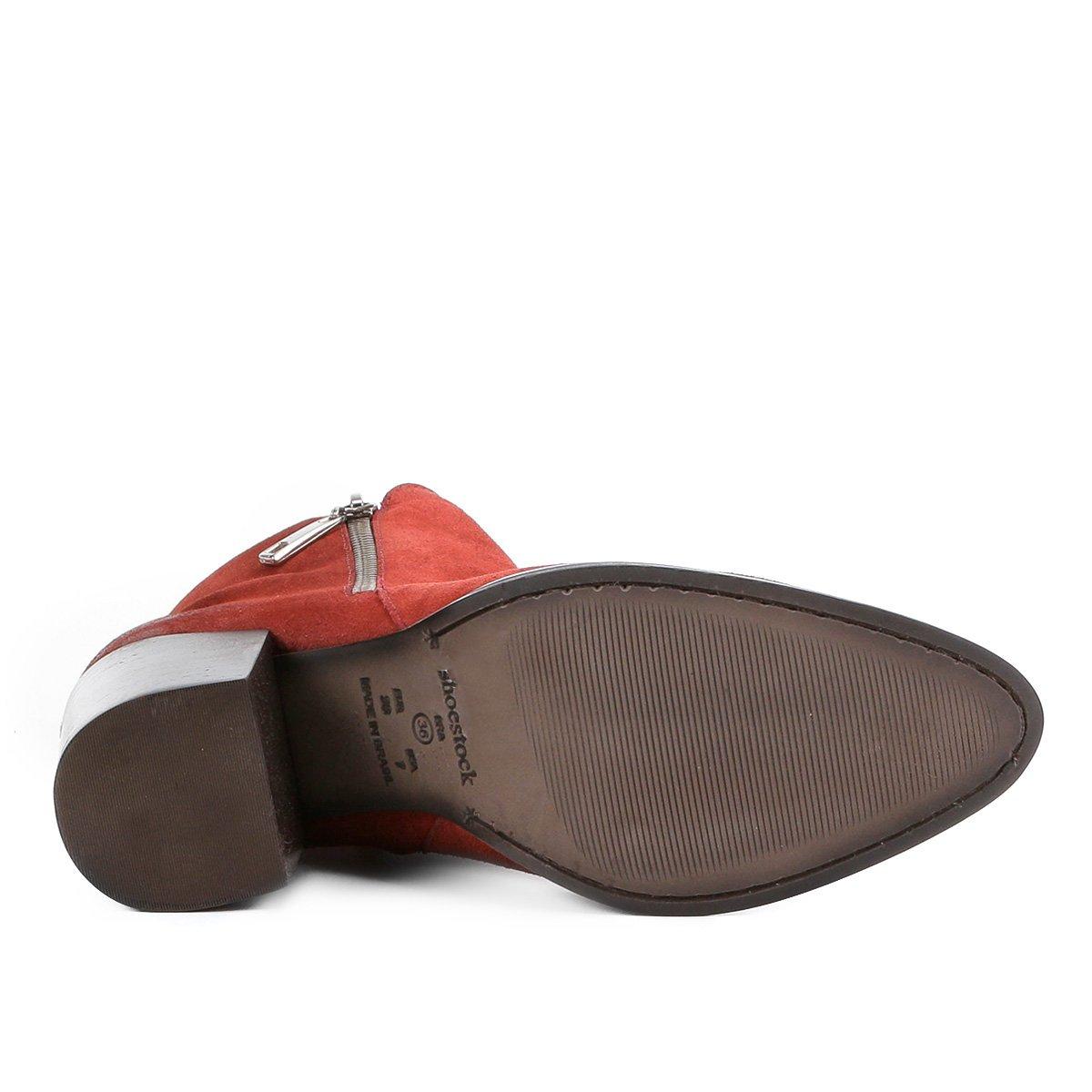 4eb67dfeb8 Feminina Couro Bota Bloco Compre Agora Curto Shoestock Cano Salto 4BdBYxA