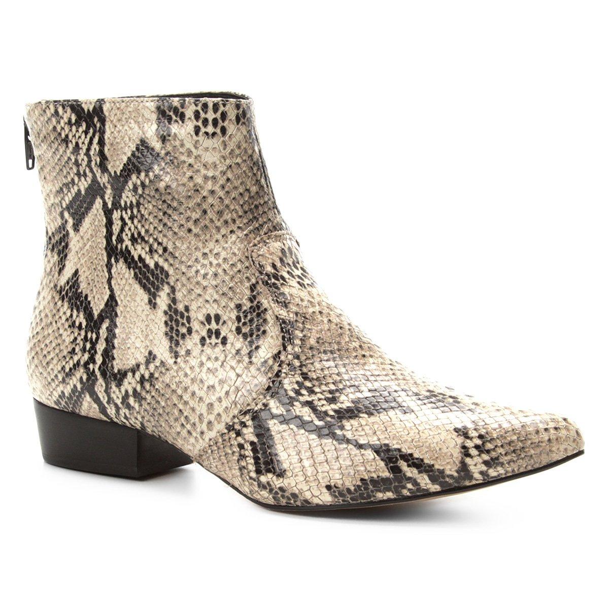 37841d49ae Bota Couro Cano Curto Shoestock Snake Feminina | Shoestock