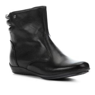 Bota Couro Cano Curto Shoestock Travel Feminina