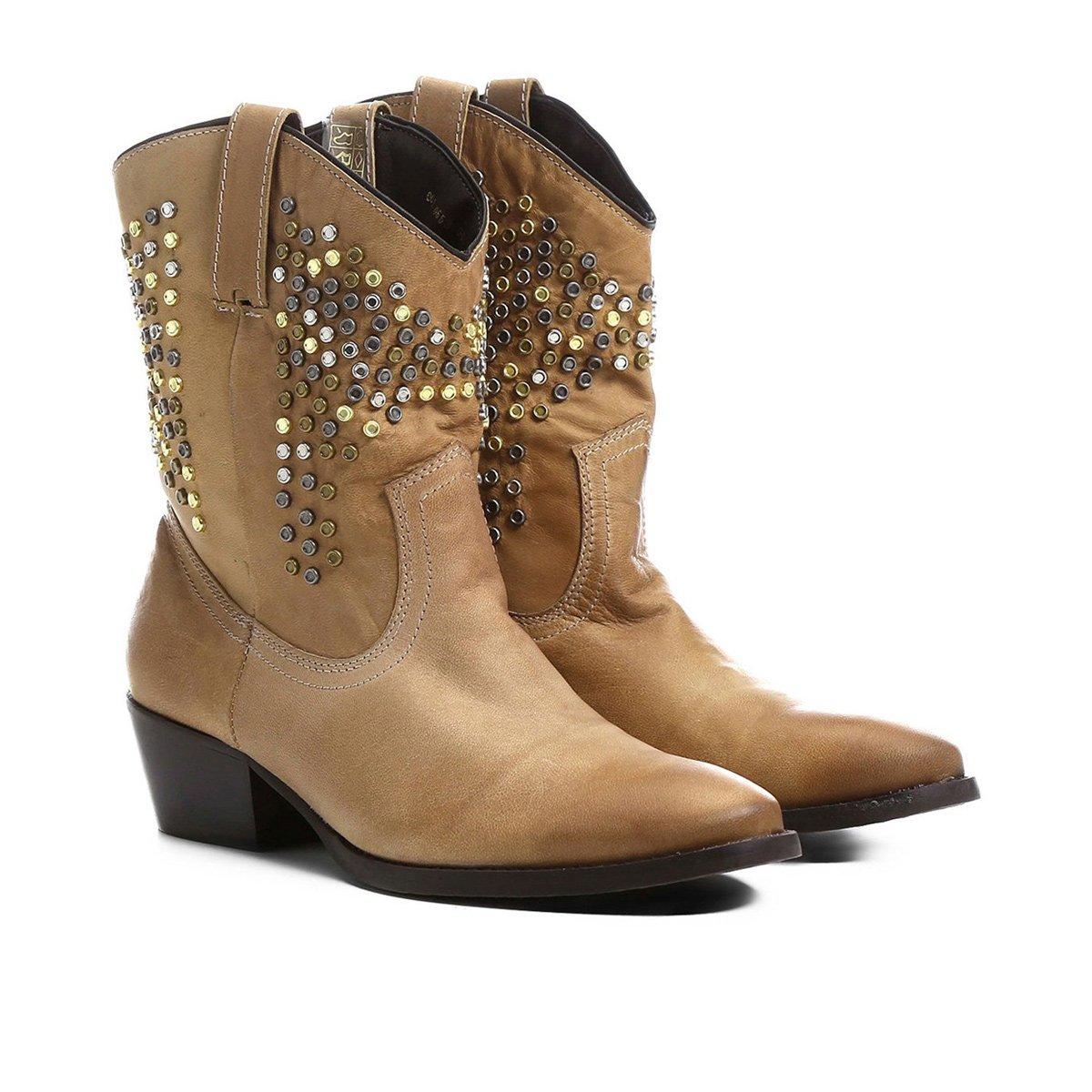 Bota couro country shoestock tachas e pedras feminina bege jpg 1200x1200 Botas  femininas country cb12b11b37e