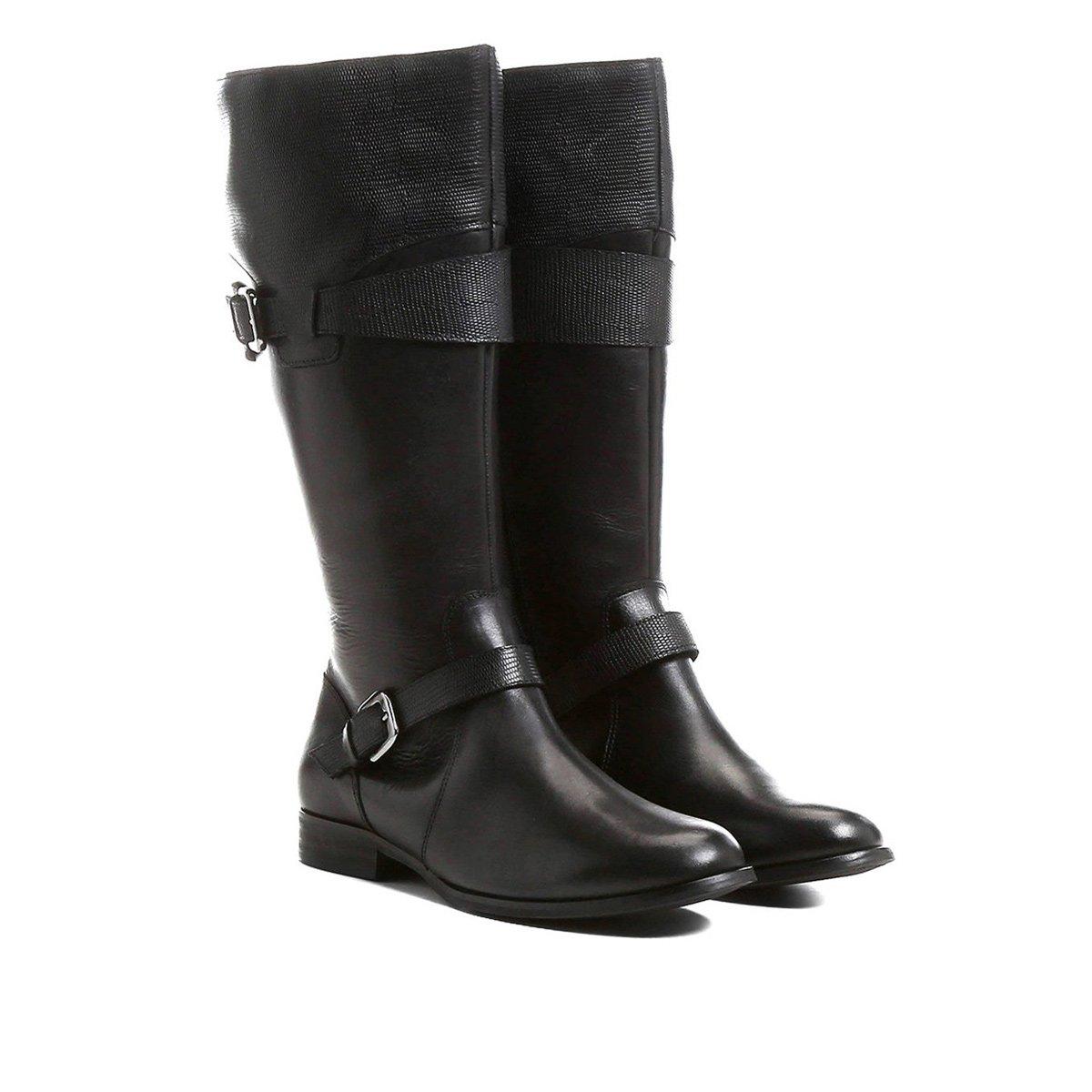 102942183 Bota Couro Montaria Shoestock Cobra Feminina - Preto - Compre Agora ...