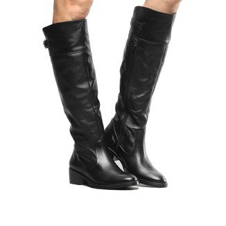 Bota Couro Montaria Shoestock Flat Feminina