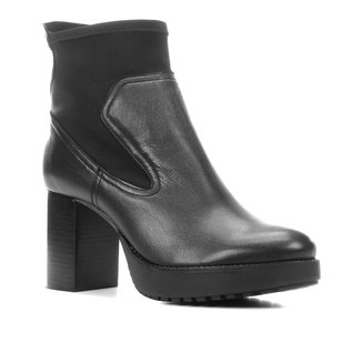 Bota Couro Shoestock Cano Curto Meia Pata Feminina