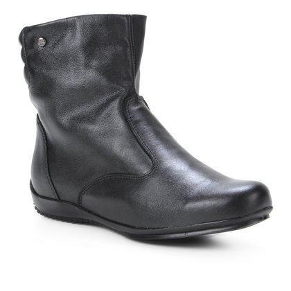 Bota Couro Shoestock Cano Curto Travel Feminina