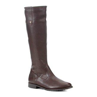Bota Couro Shoestock Cano Longo Feminina