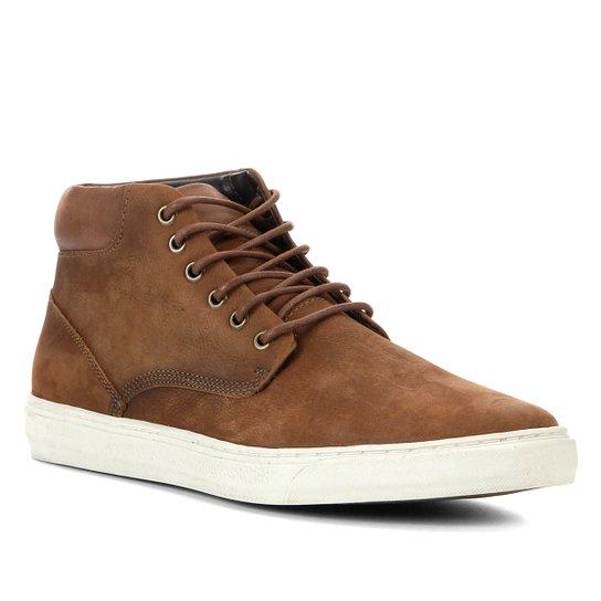 Bota Couro Shoestock Cano Médio Masculina - Caramelo