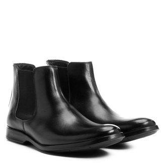 Bota Couro Shoestock Chelsea Masculina