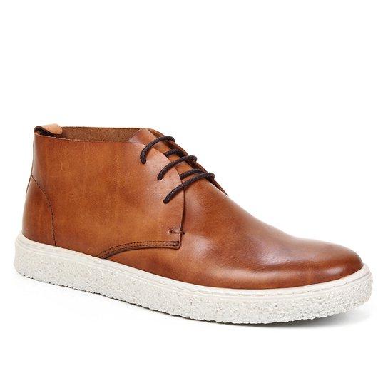 Bota Couro Shoestock Comfy Cano Curto Feminina - Caramelo