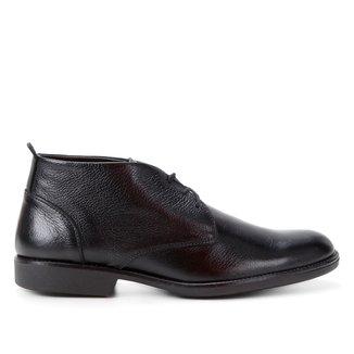 Bota Couro Shoestock Confort Cano Curto Masculina