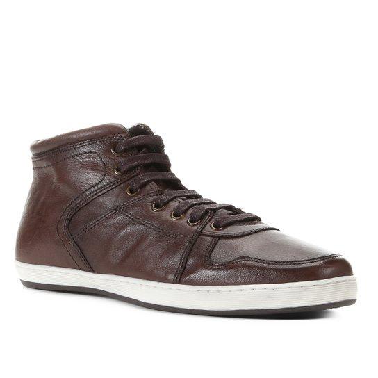 Bota Couro Shoestock Confort Masculina - Café