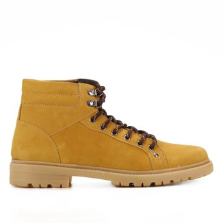Bota Couro Shoestock Coturno Nobuck Masculina