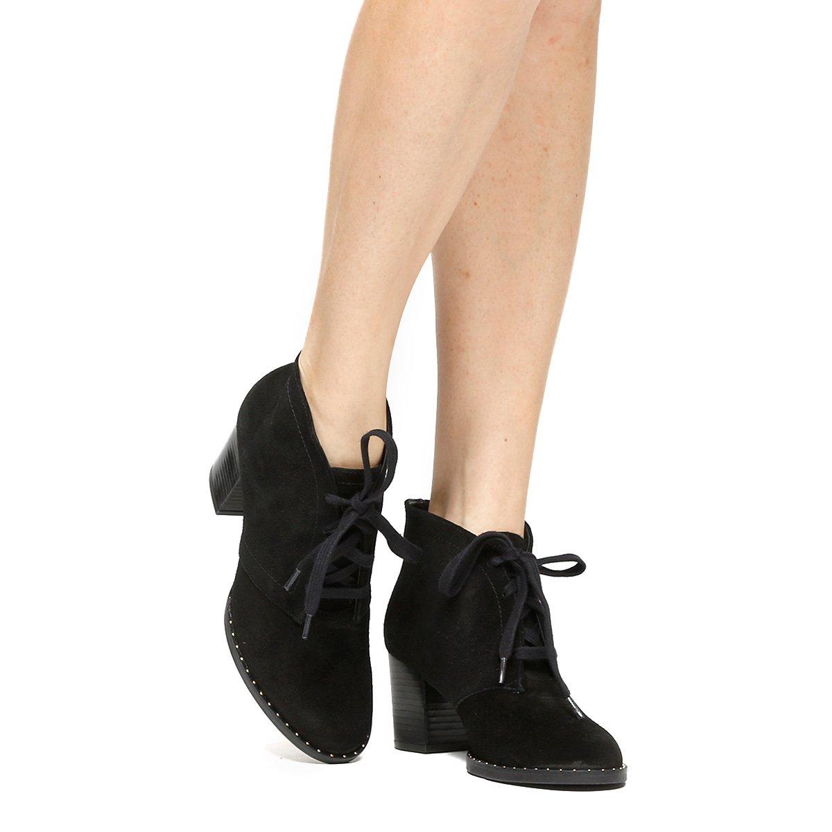 59f4ddb86c Bota Couro Shoestock London Fog Vira Cravinhos Feminina