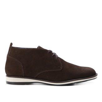 Bota Couro Shoestock Nobuck Cadarço Masculina