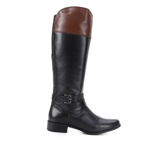 Bota Montaria Shoestock Couro Cano Longo Feminina