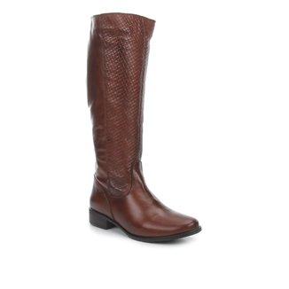 Bota Montaria Shoestock Couro Tressê Feminina