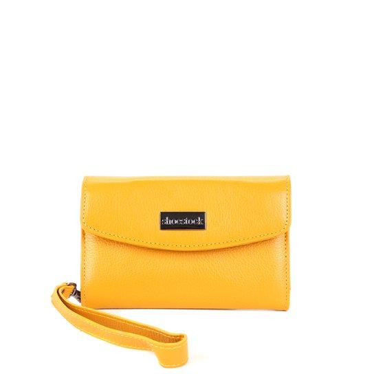 Carteira Couro Shoestock Envelope Alça Feminina - Amarelo