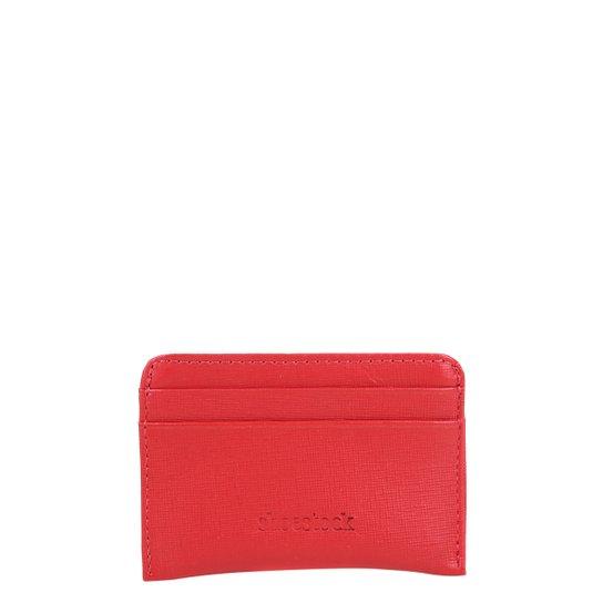Carteira Couro Shoestock Mini Feminina - Vermelho