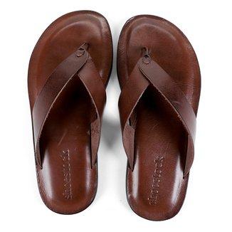 Chinelo Couro Shoestock Básico Masculino