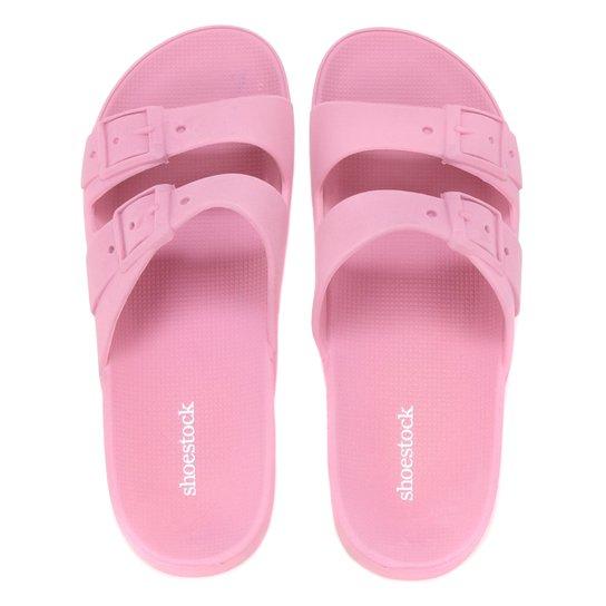 Chinelo Shoestock Color Fivelas - Rosa