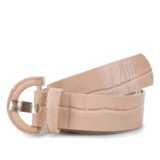 Cinto Couro Shoestock Croco Médio Feminino