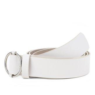 Cinto Couro Shoestock Fivela Argola Feminino