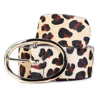 Cinto Couro Shoestock Fivela Oval Feminino