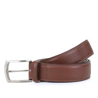 Cinto Couro Shoestock Social Costura Masculino