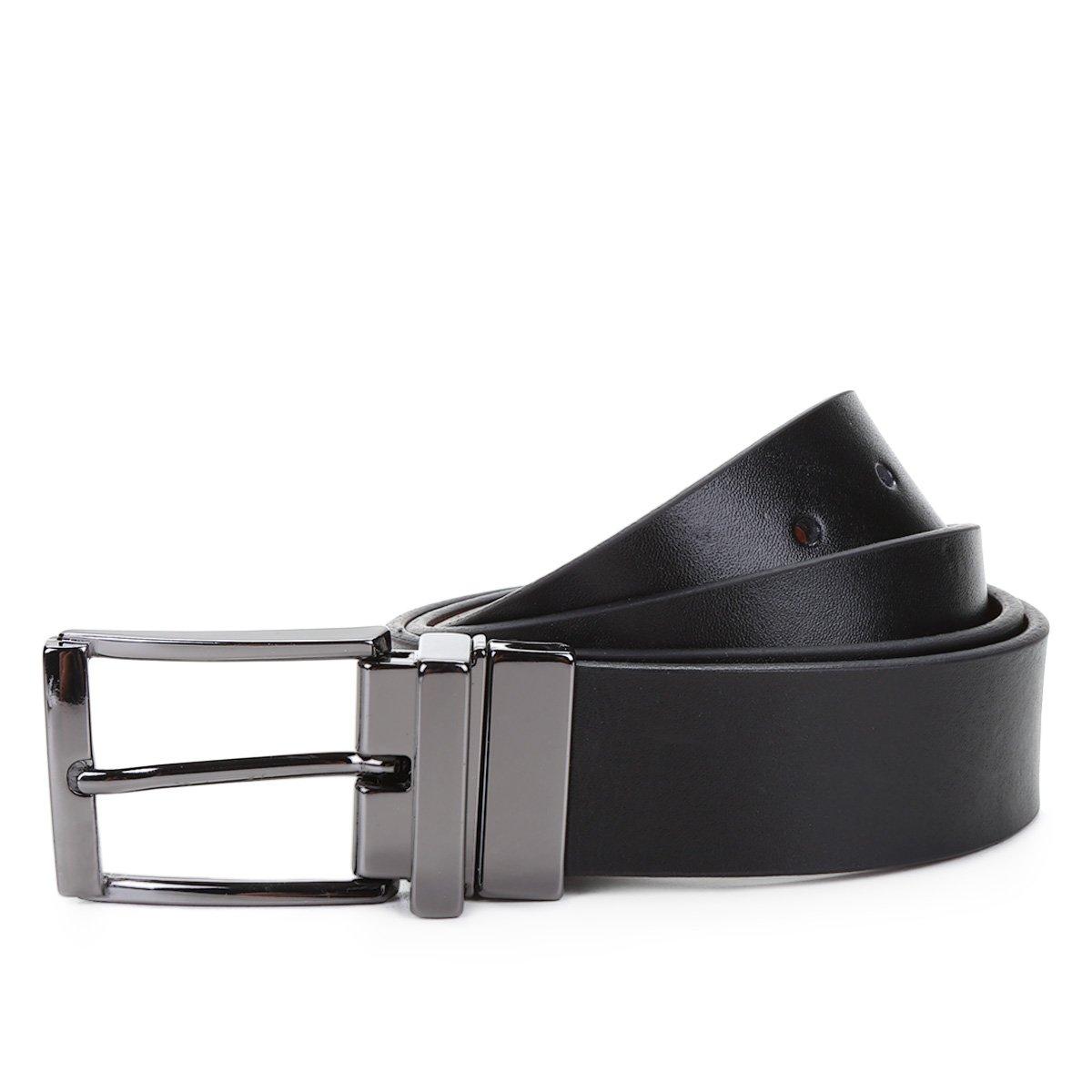 78a392069d Cinto Couro Shoestock Social Reversível A Fio Masculino
