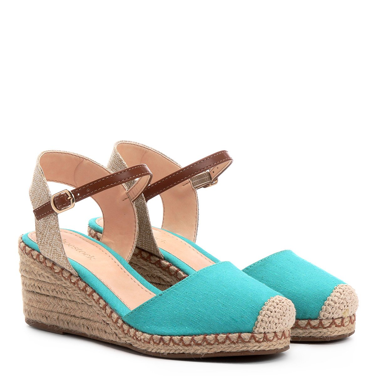 53d319d2e7 Espadrille Shoestock Anabela Lona Feminina   Shoestock