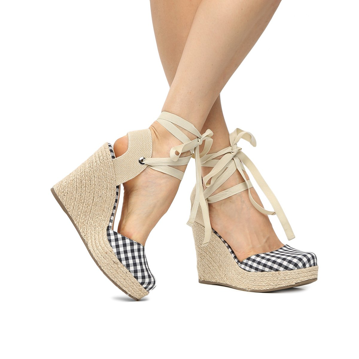 59738c3ea Espadrille Shoestock Plataforma Feminina - Preto | Shoestock
