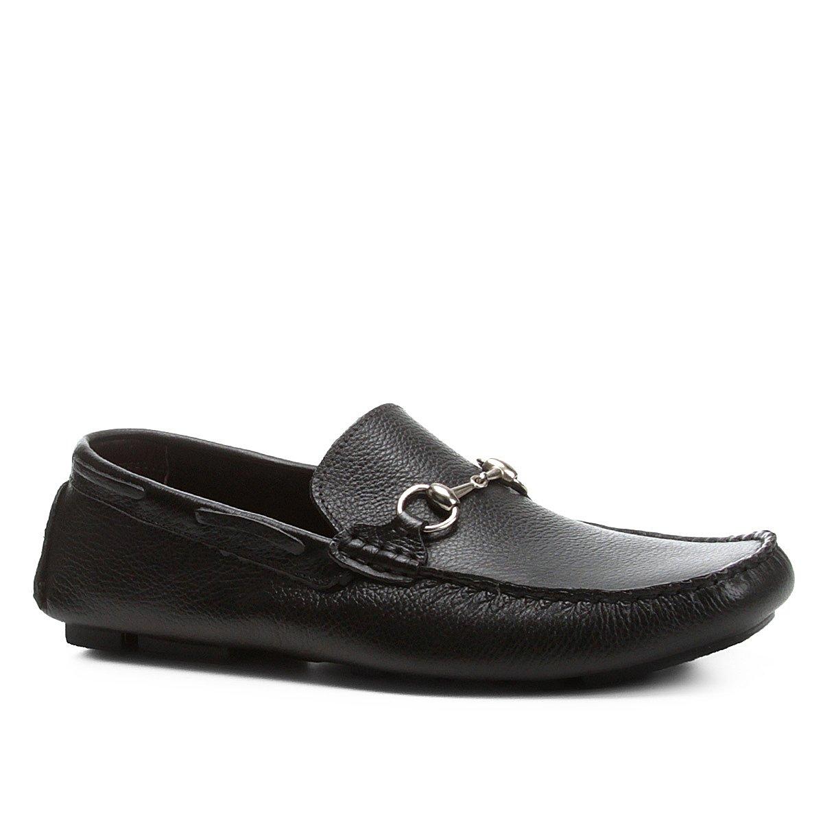 fc7e094a5f Mocassim Couro Shoestock Bridão Masculino - Preto - Compre Agora ...
