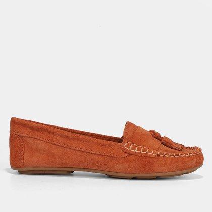 Mocassim Couro Shoestock Camurça Color Tassel Feminino