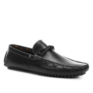 Mocassim Couro Shoestock Casual Nó Masculino