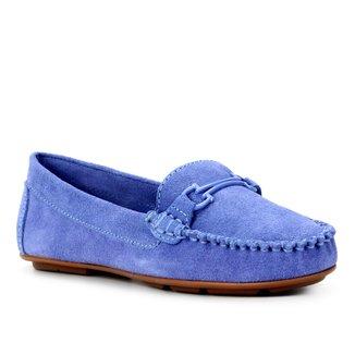 Mocassim Couro Shoestock Comfy Camurça Feminino