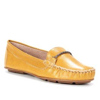 Mocassim Couro Shoestock Comfy Corrente Feminino