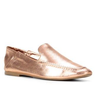Mocassim Couro Shoestock Comfy Liso Feminino